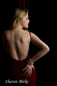 Blonde in Red Dress by Sharon Birke www.PowerfulGoddess.com