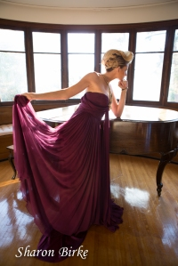 Glamour Portrait with Piano by Sharon Birke www.PowerfulGoddess.com