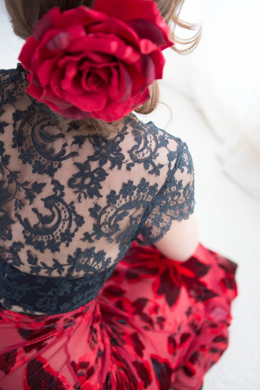 Red Rose and Lace by Sharon Birke www.PowerfulGoddess.com