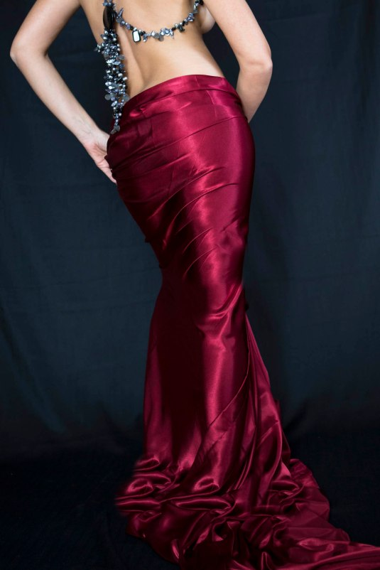 Goddess in Red Satin by Sharon Birke www.PowerfulGoddess.com