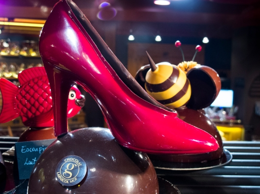 French high heels in chocolate by Sharon Birke www.PowerfulGoddess.com