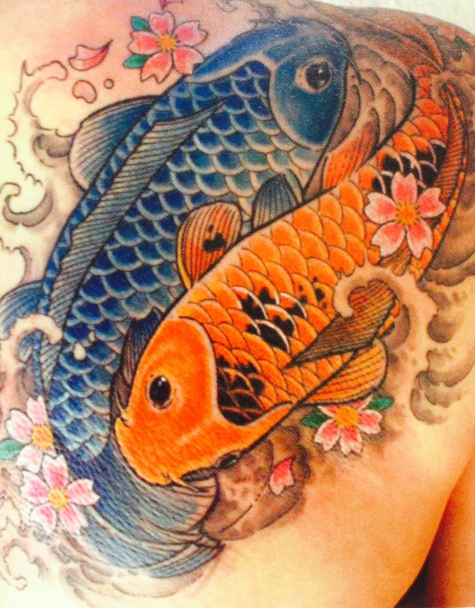 koi tattoo by Kari Barba