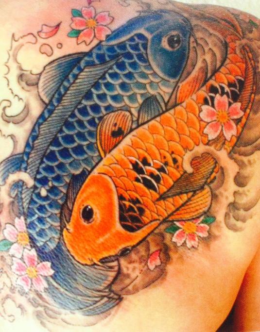 koi tattoo by Kari Barba