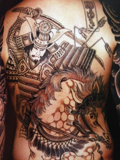 Samurai on Horse tattoo by Jill Bonny
