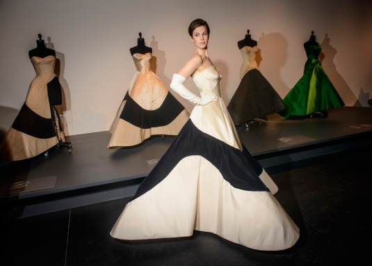 Elettra Wiedeman in Charles James four clover gown at NYC Met Costume Institute