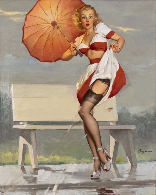 Gil-Elvgren-Ive-been-spotted-pinup