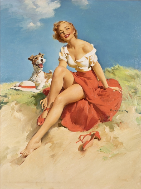 Haddon-Sundblom-Pinup-with-dog