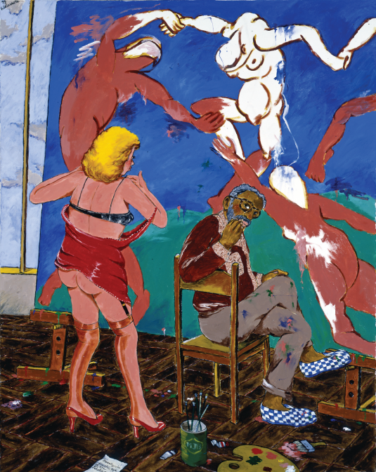 Colescott-painting-Beauty-is-in-the-eye-of-the-beholder