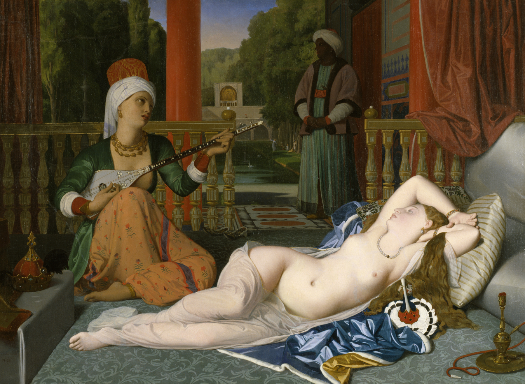 Ingres-painting-Odalisque-with-Slave-Powerful-Goddess-Portraits