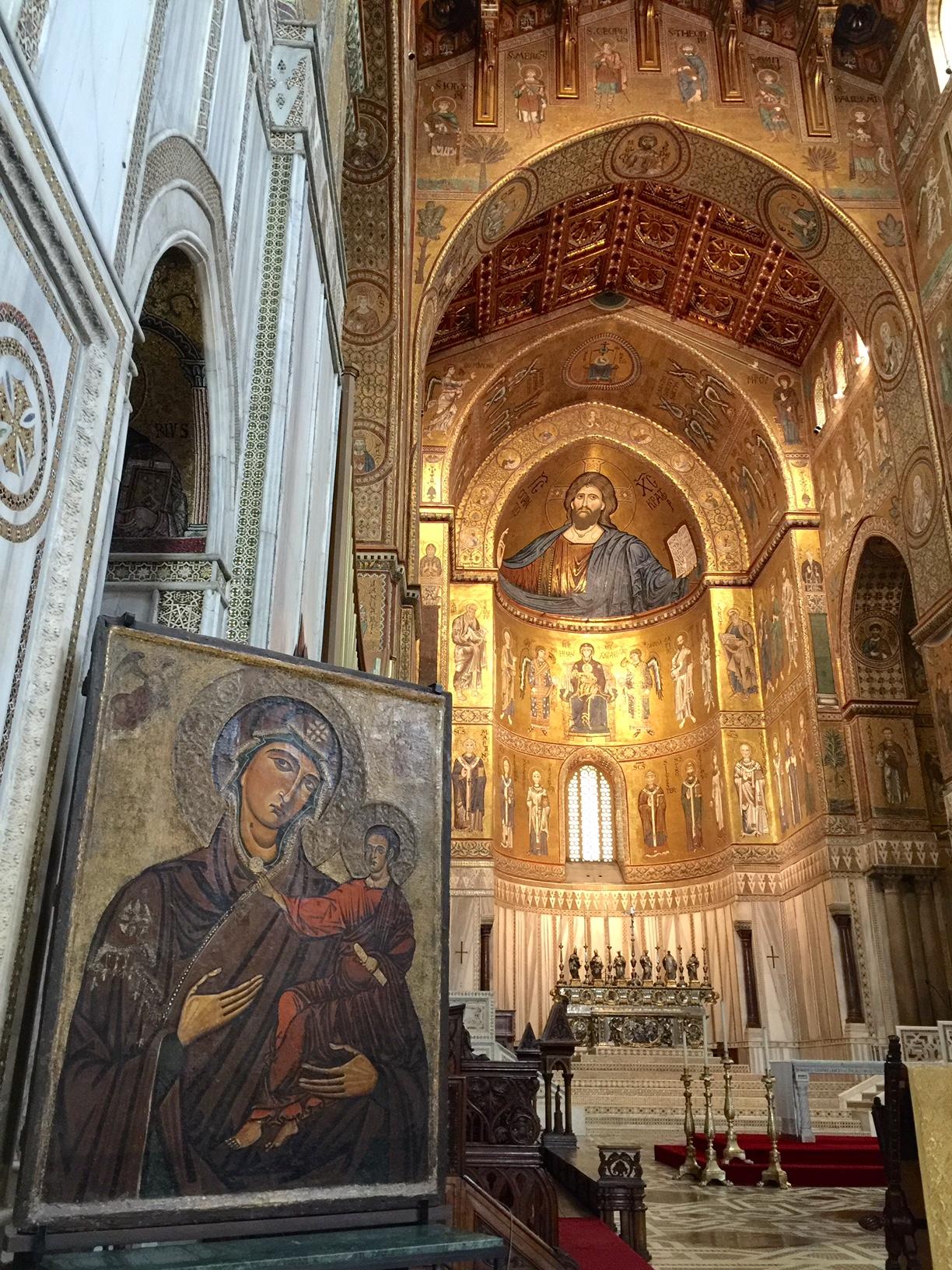 Italy-Sicily-mosaic-church-Powerful-Goddess-Portraits
