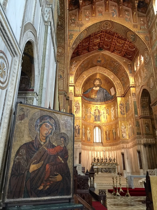 Italy-Sicily-mosaic-church-Powerful-Goddess-Portraits